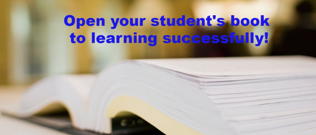 Open your student's book to learning successfully.